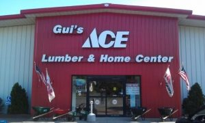 Gui's Ace Lumber & Home Center store front